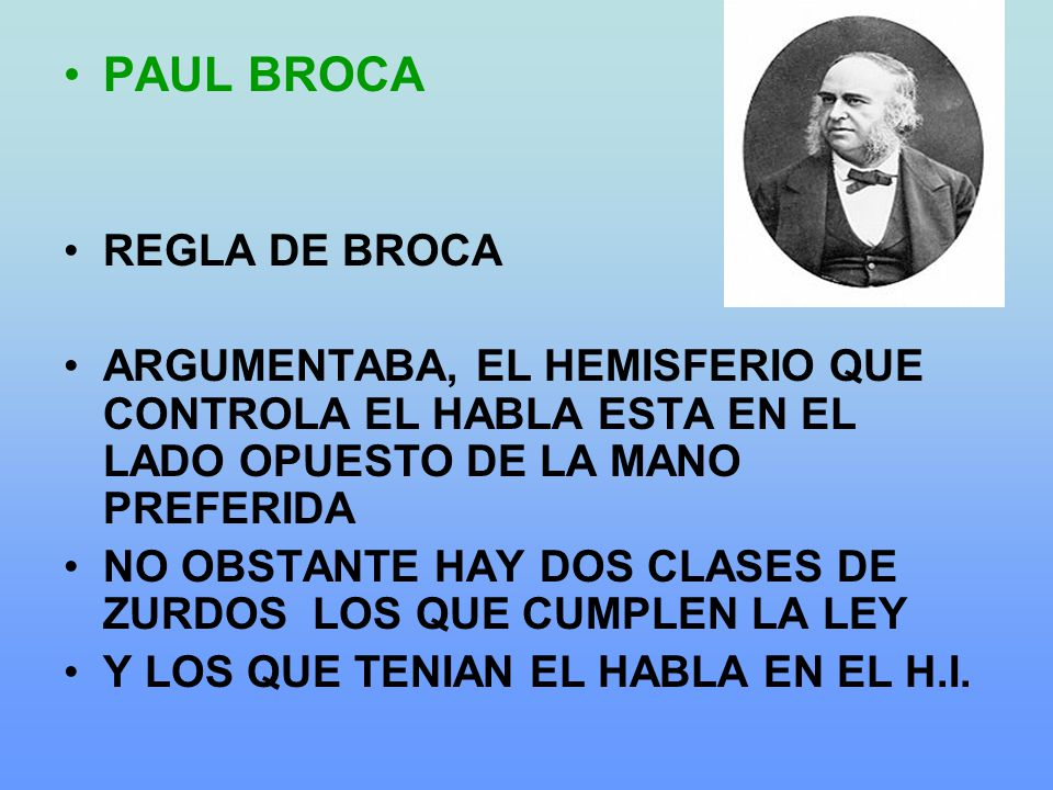 PAUL BROCA REGLA DE BROCA