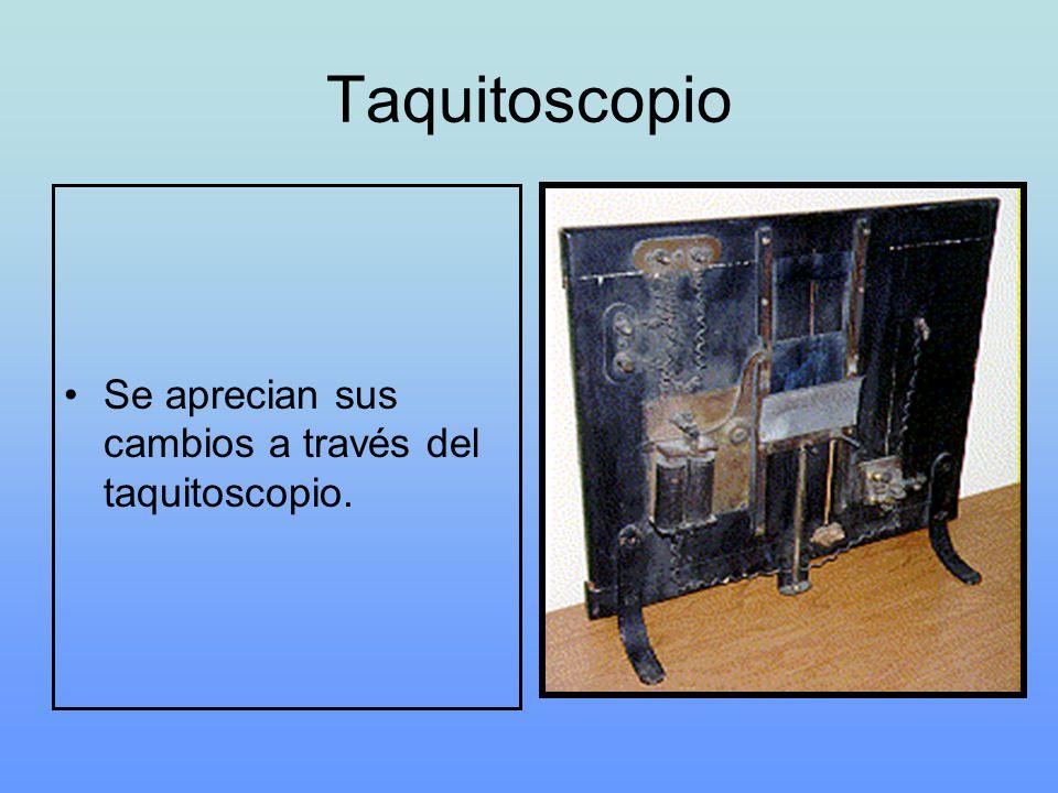 Taquitoscopio Se aprecian sus cambios a través del taquitoscopio.