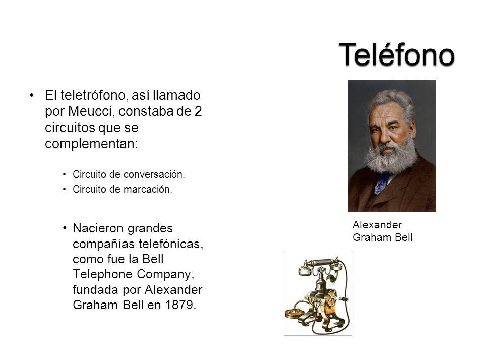 Teléfono El teletrófono, así llamado por Meucci, constaba de 2 circuitos que se complementan: Circuito de conversación.