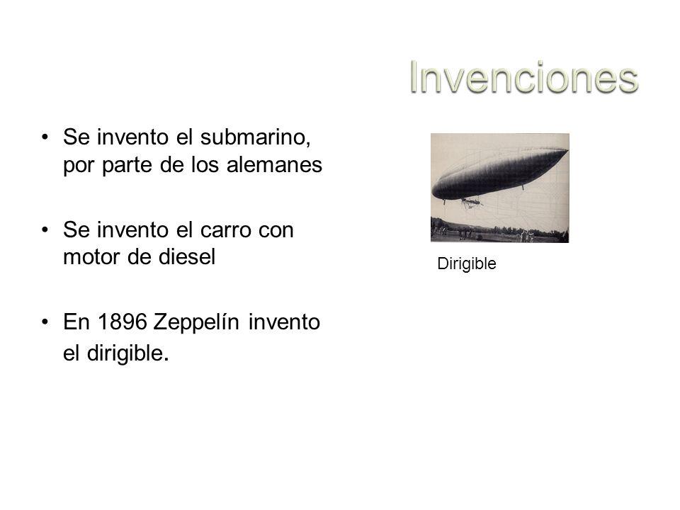 Invenciones Se invento el submarino, por parte de los alemanes