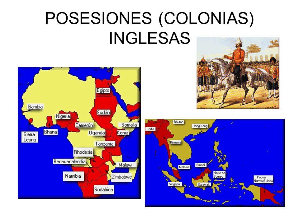POSESIONES (COLONIAS) INGLESAS