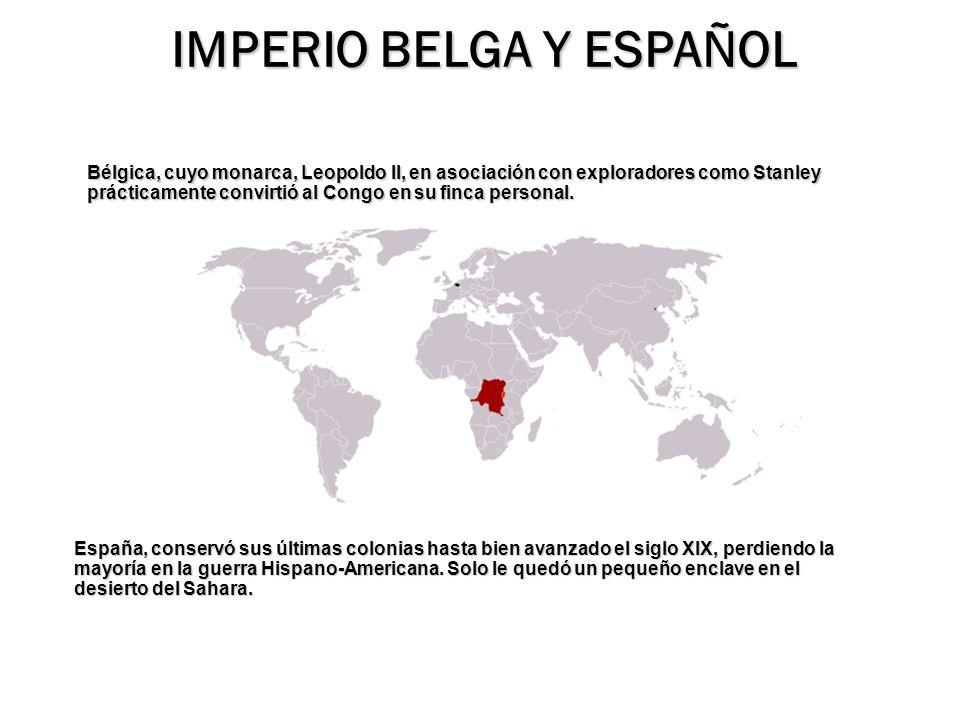 IMPERIO BELGA Y ESPAÑOL
