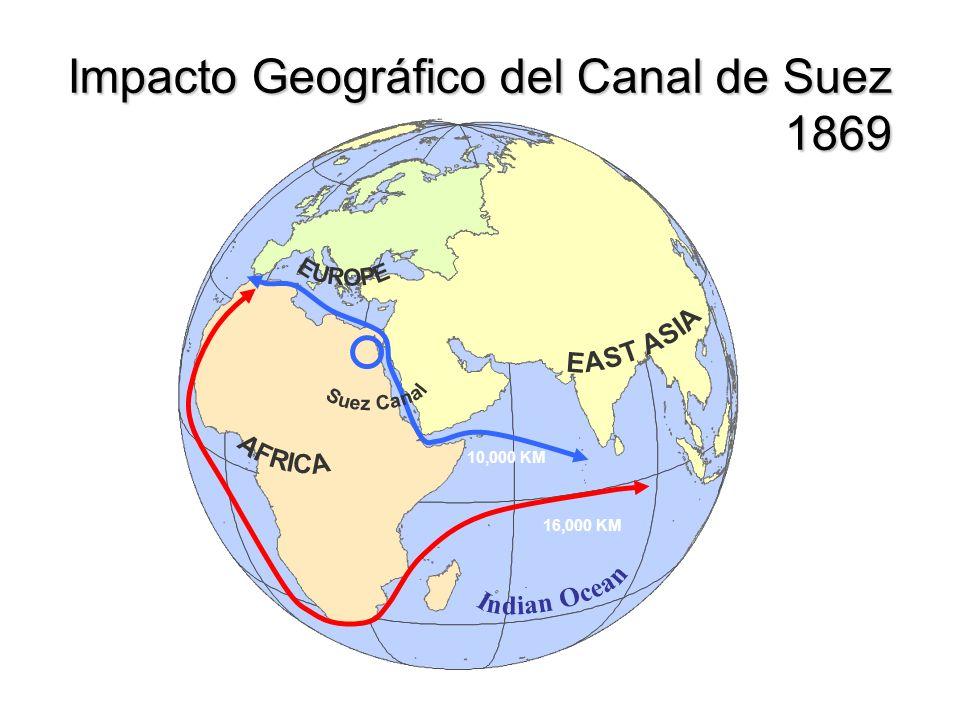 Impacto Geográfico del Canal de Suez 1869