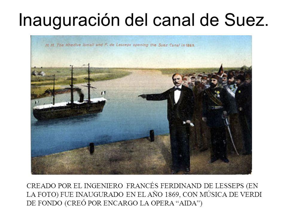 Inauguración del canal de Suez.