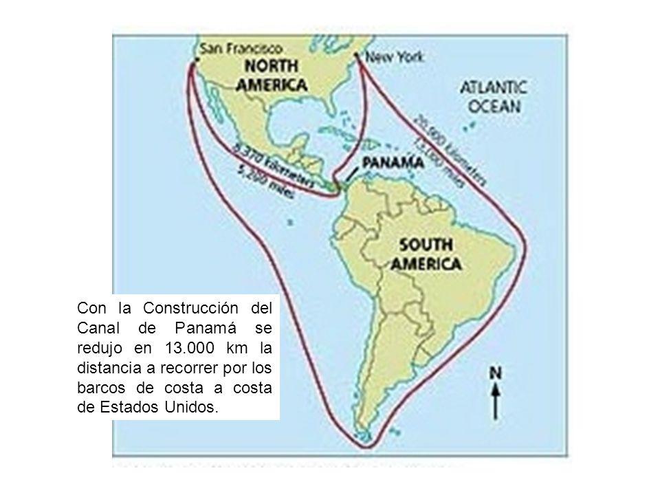 Con la Construcción del Canal de Panamá se redujo en 13
