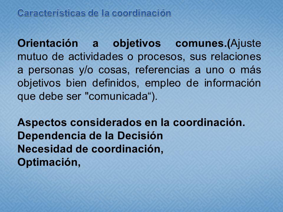 Características de la coordinación