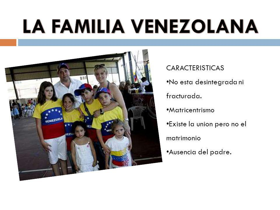 LA FAMILIA VENEZOLANA CARACTERISTICAS