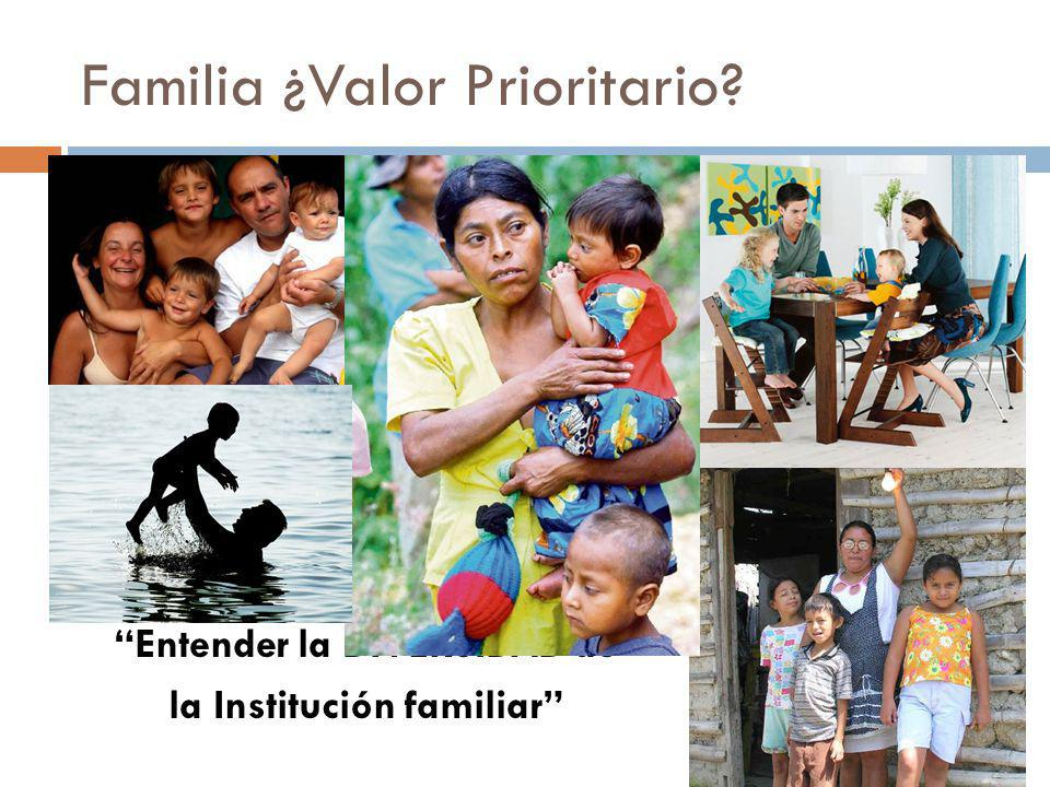 Familia ¿Valor Prioritario