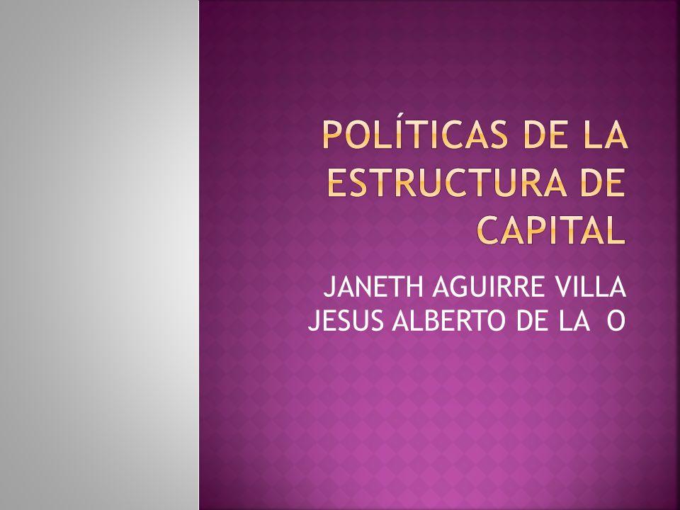 Políticas de la estructura de capital