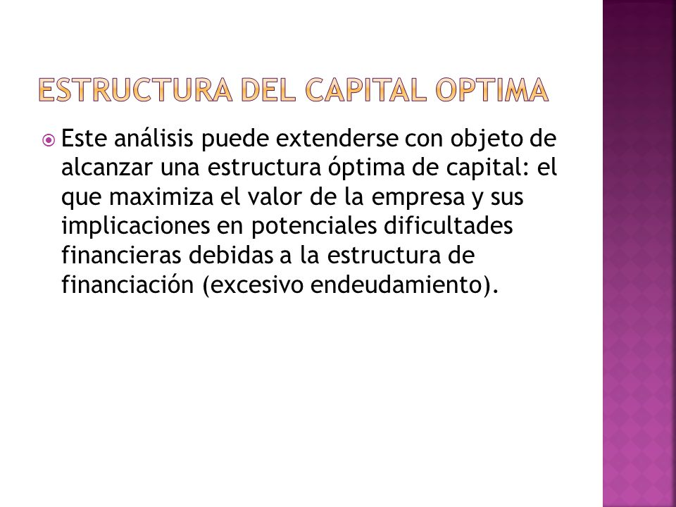 ESTRUCTURA DEL CAPITAL OPTIMA