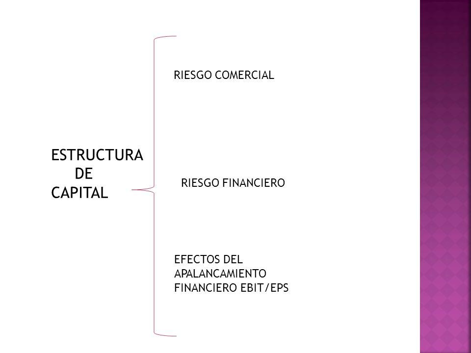 ESTRUCTURA DE CAPITAL RIESGO COMERCIAL RIESGO FINANCIERO