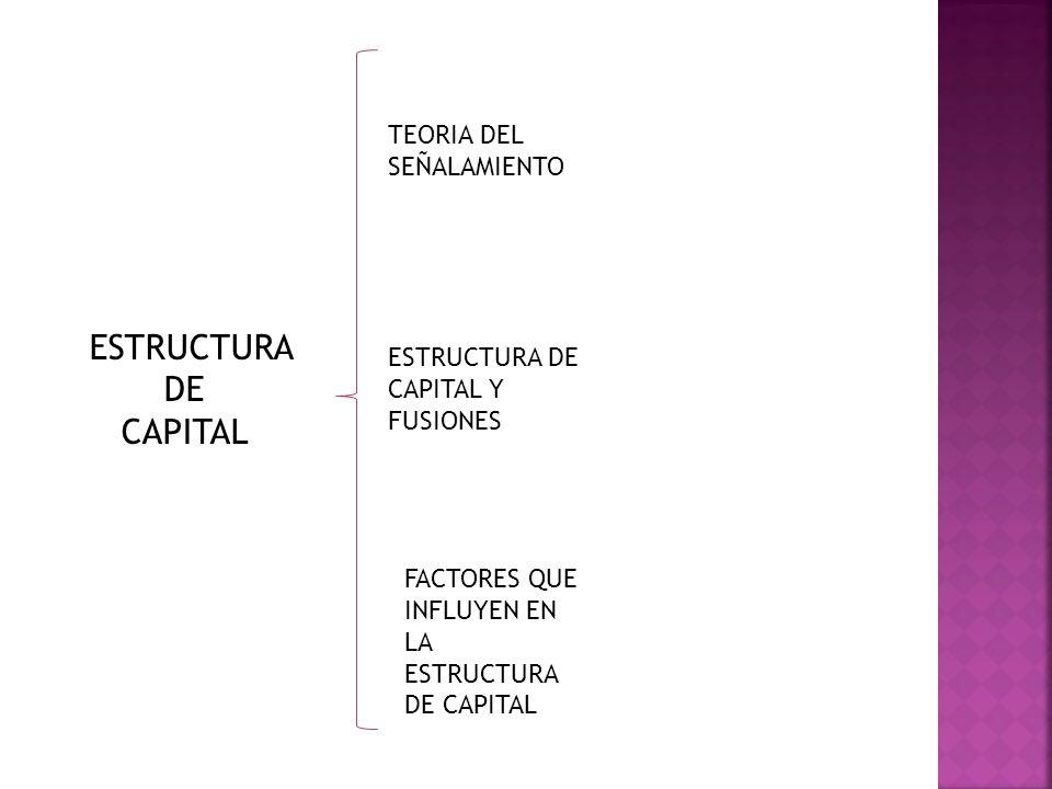 ESTRUCTURA DE CAPITAL TEORIA DEL SEÑALAMIENTO