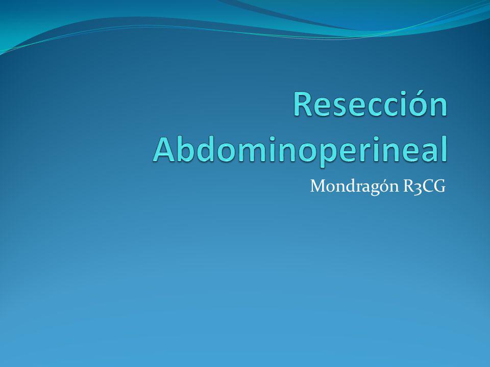 Resección Abdominoperineal