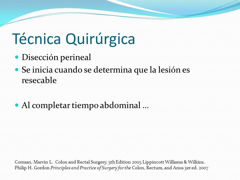 Técnica Quirúrgica Disección perineal