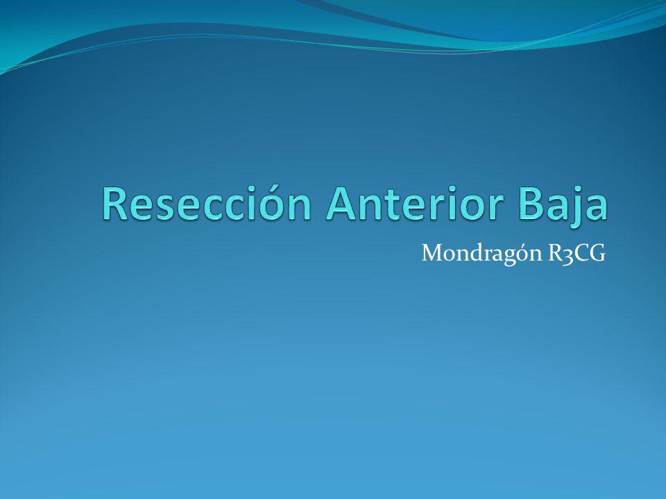 Resección Anterior Baja