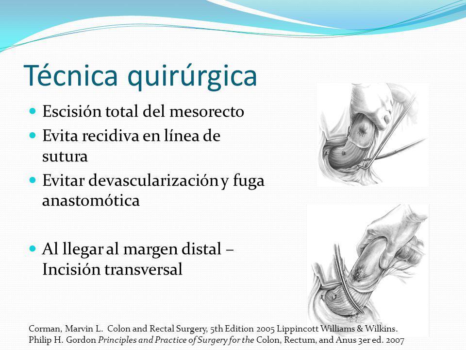 Técnica quirúrgica Escisión total del mesorecto