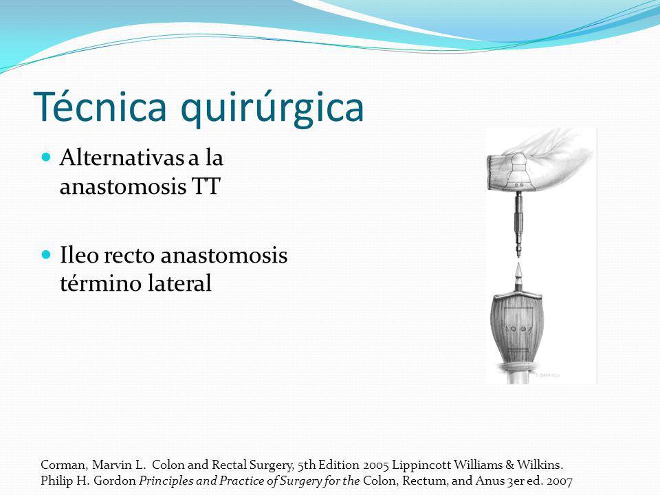 Técnica quirúrgica Alternativas a la anastomosis TT