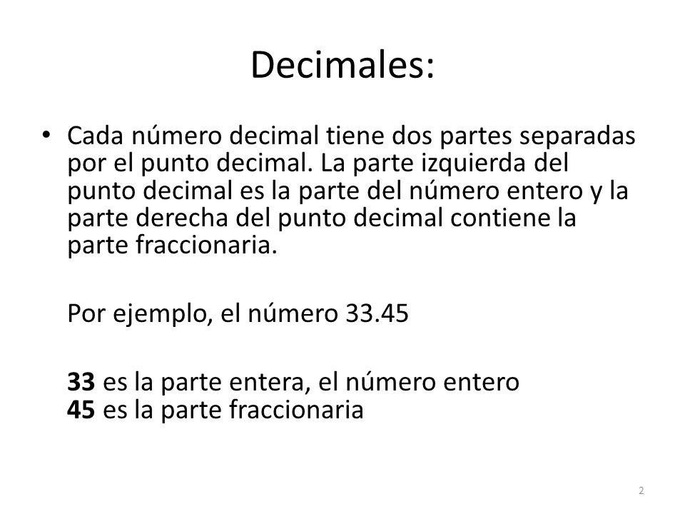 Decimales: