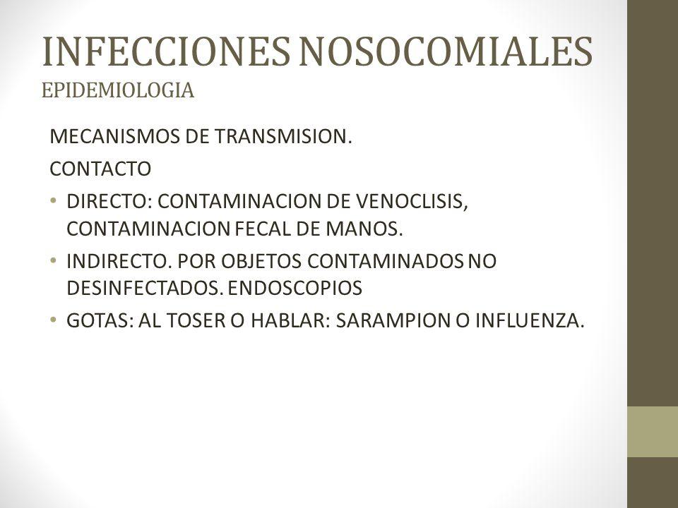 INFECCIONES NOSOCOMIALES EPIDEMIOLOGIA