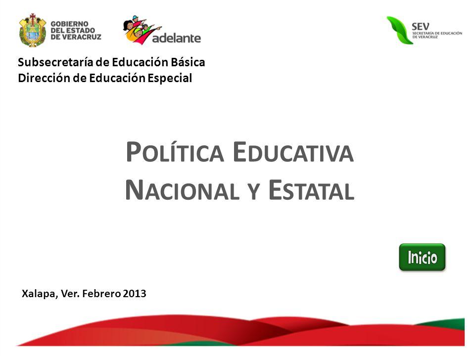 Subsecretaría de Educación Básica Dirección de Educación Especial
