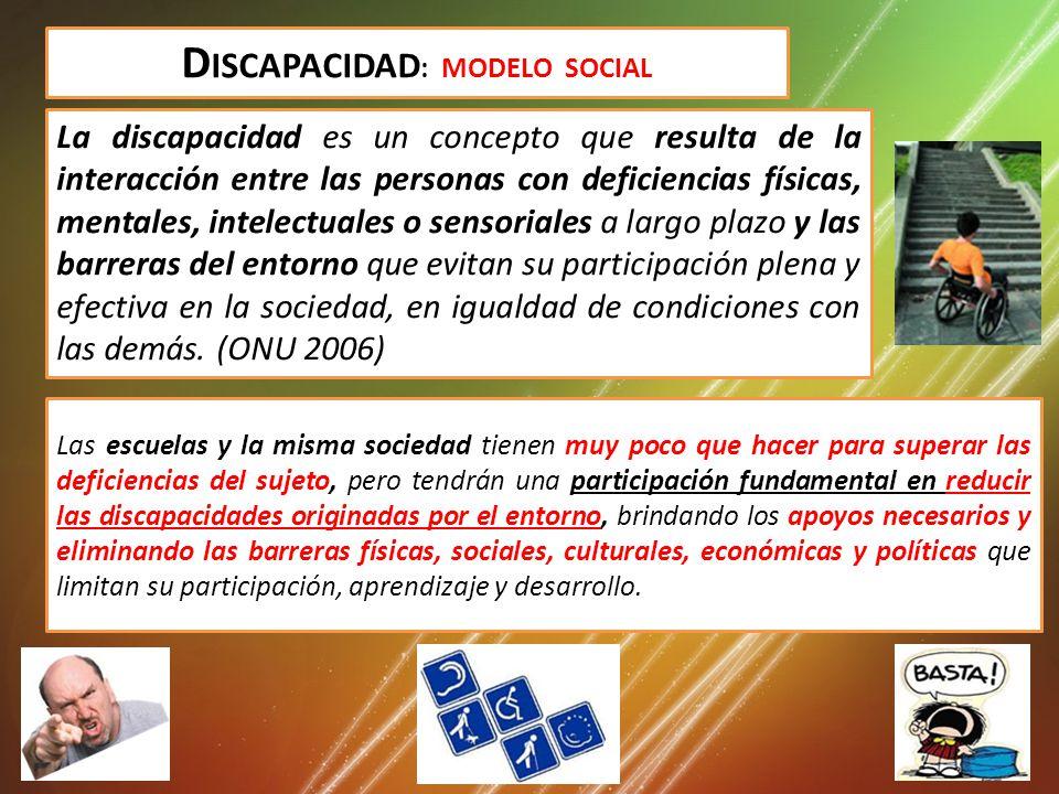 Discapacidad: MODELO SOCIAL