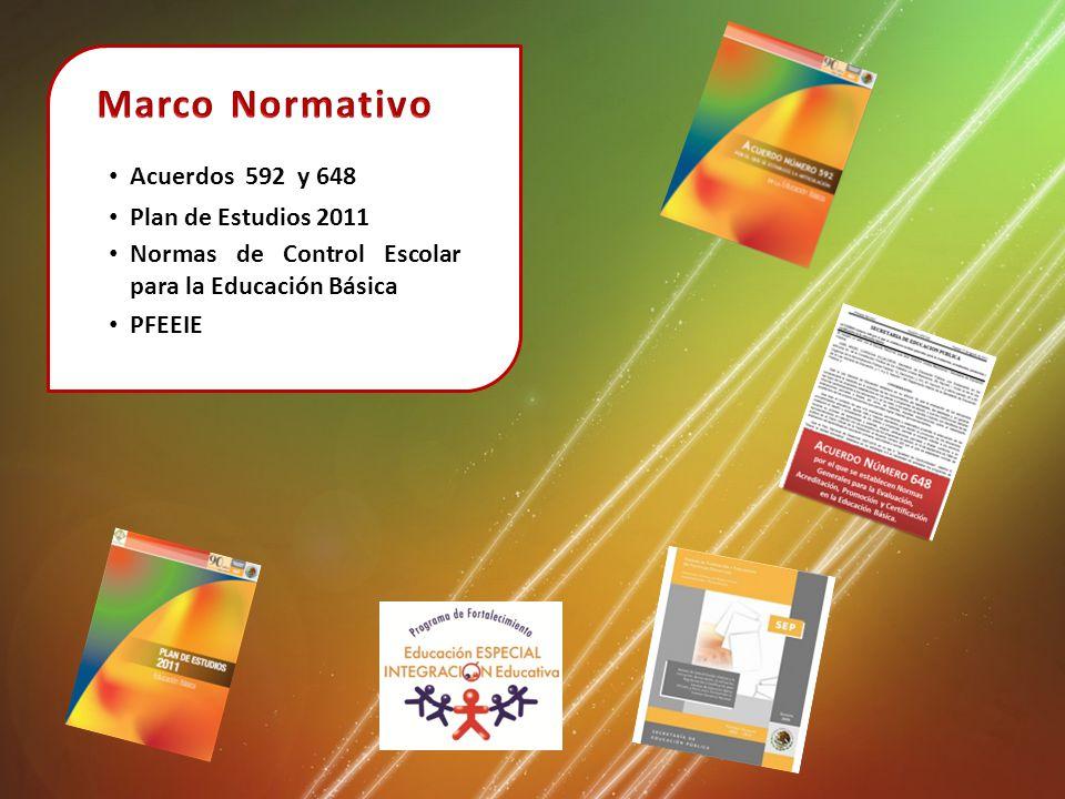 Marco Normativo Acuerdos 592 y 648 Plan de Estudios 2011