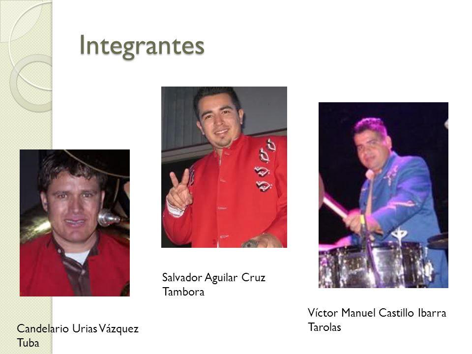 Integrantes Salvador Aguilar Cruz Tambora