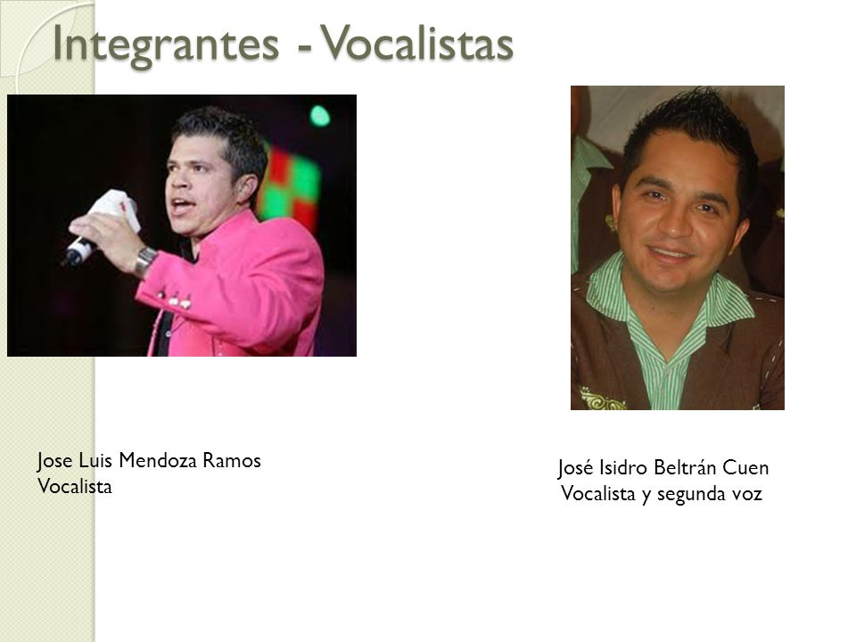 Integrantes - Vocalistas