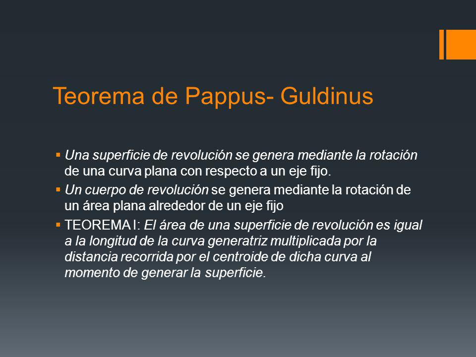 Teorema de Pappus- Guldinus