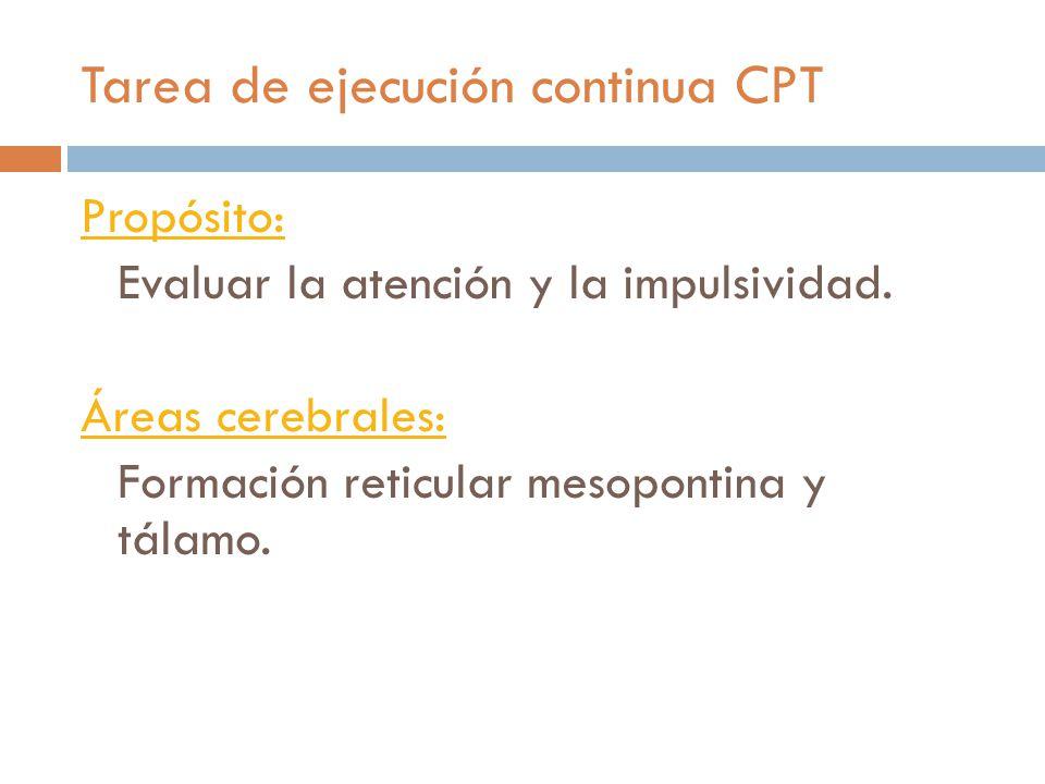 Tarea de ejecución continua CPT