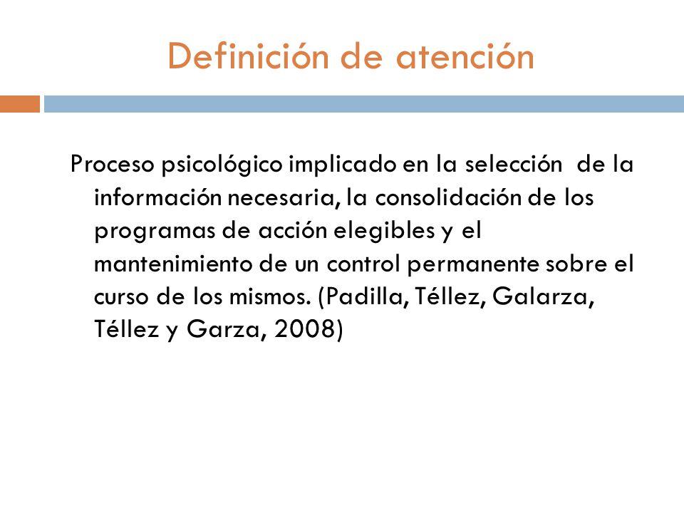 Definición de atención