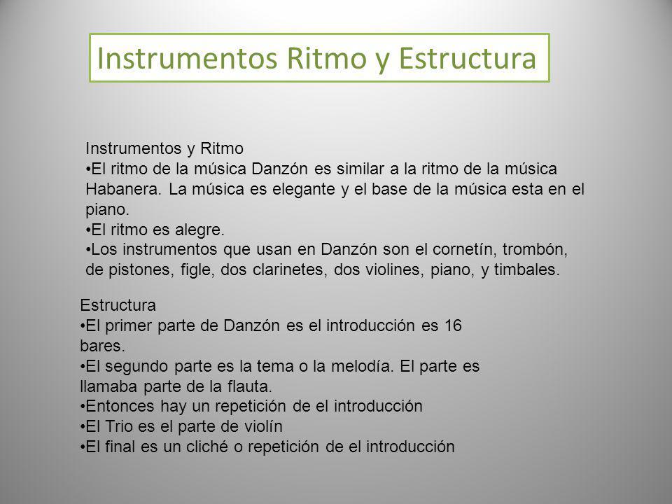 Instrumentos Ritmo y Estructura