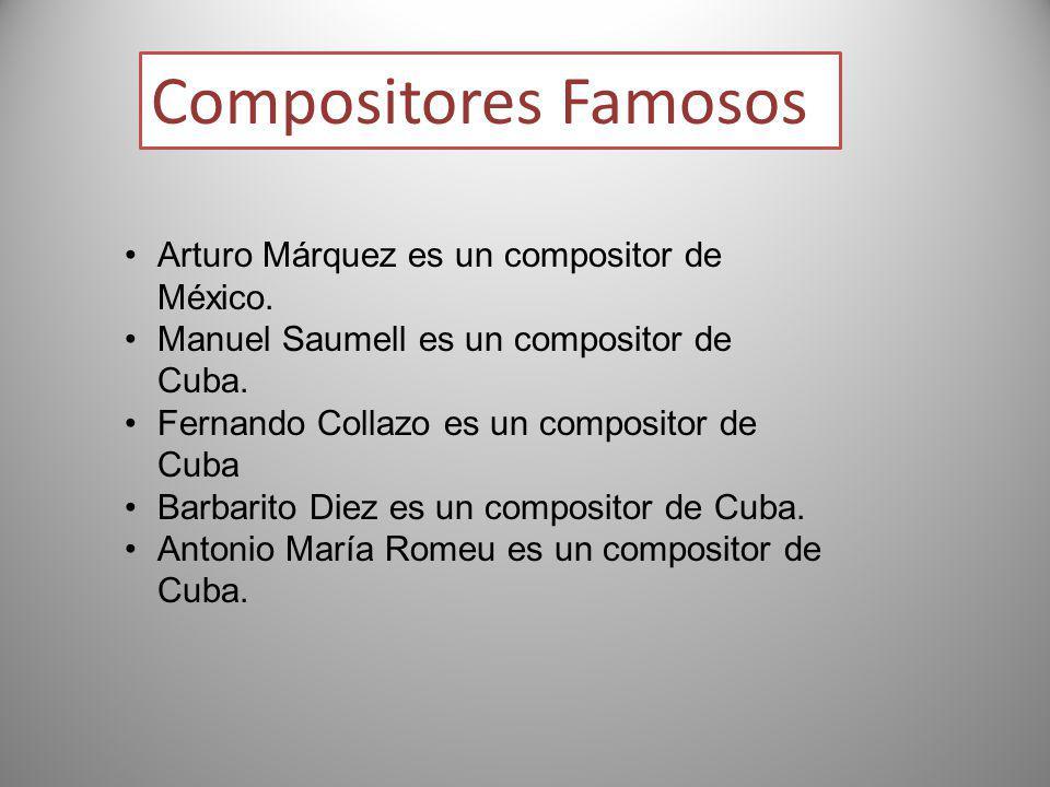 Compositores Famosos Arturo Márquez es un compositor de México.