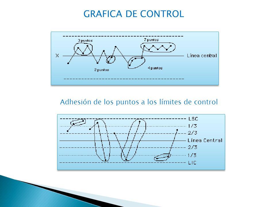 Adhesión de los puntos a los límites de control