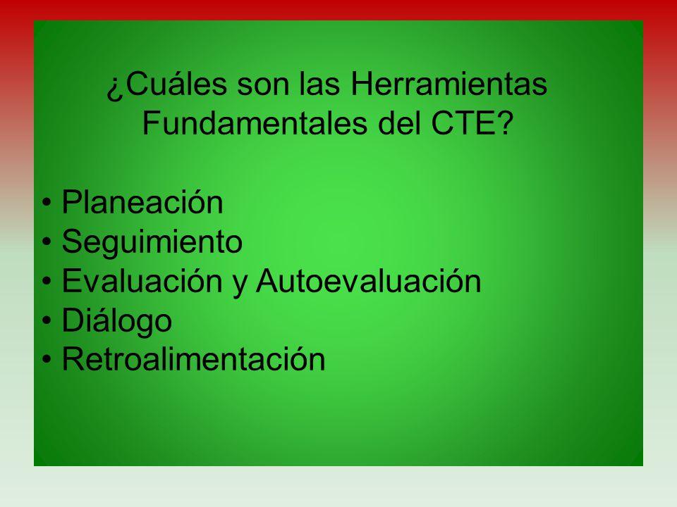 ¿Cuáles son las Herramientas Fundamentales del CTE