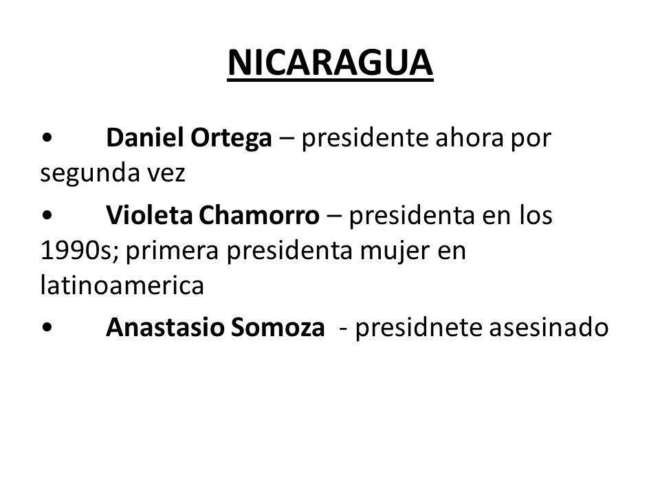 NICARAGUA • Daniel Ortega – presidente ahora por segunda vez