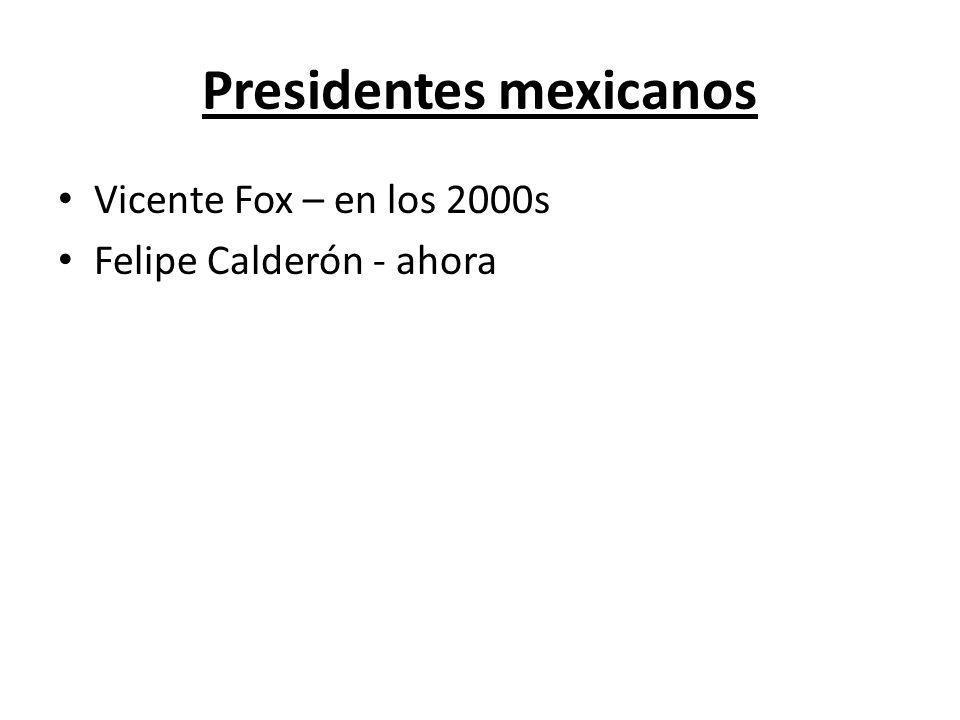 Presidentes mexicanos