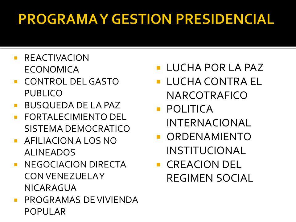 PROGRAMA Y GESTION PRESIDENCIAL