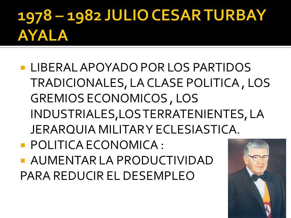 1978 – 1982 JULIO CESAR TURBAY AYALA