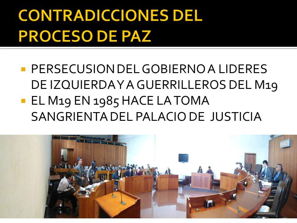 CONTRADICCIONES DEL PROCESO DE PAZ
