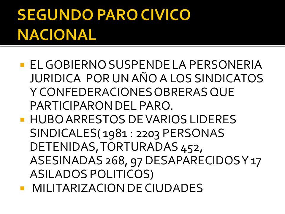 SEGUNDO PARO CIVICO NACIONAL