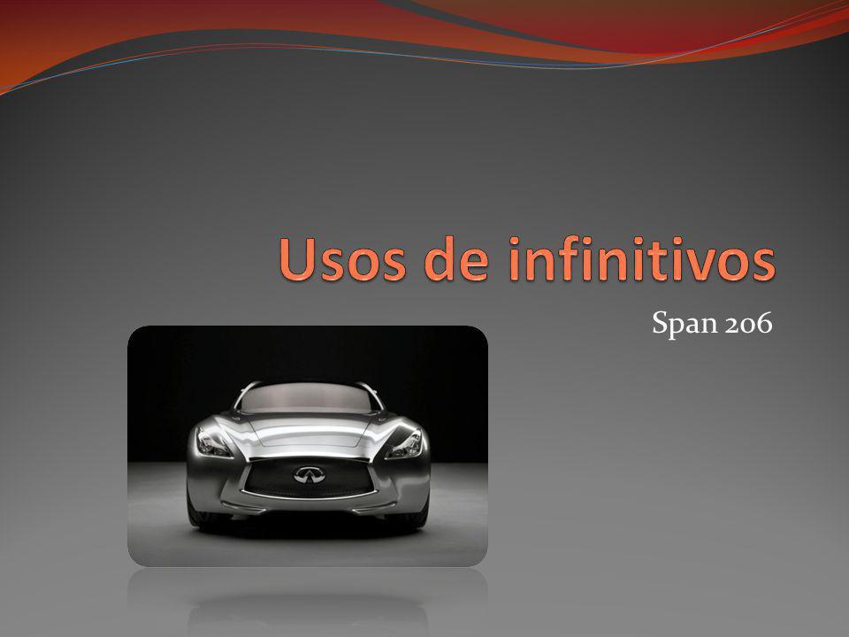 Usos de infinitivos Span 206
