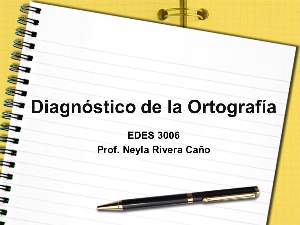 Diagnóstico de la Ortografía