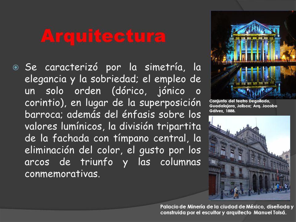 Conjunto del teatro Degollado, Guadalajara, Jalisco; Arq