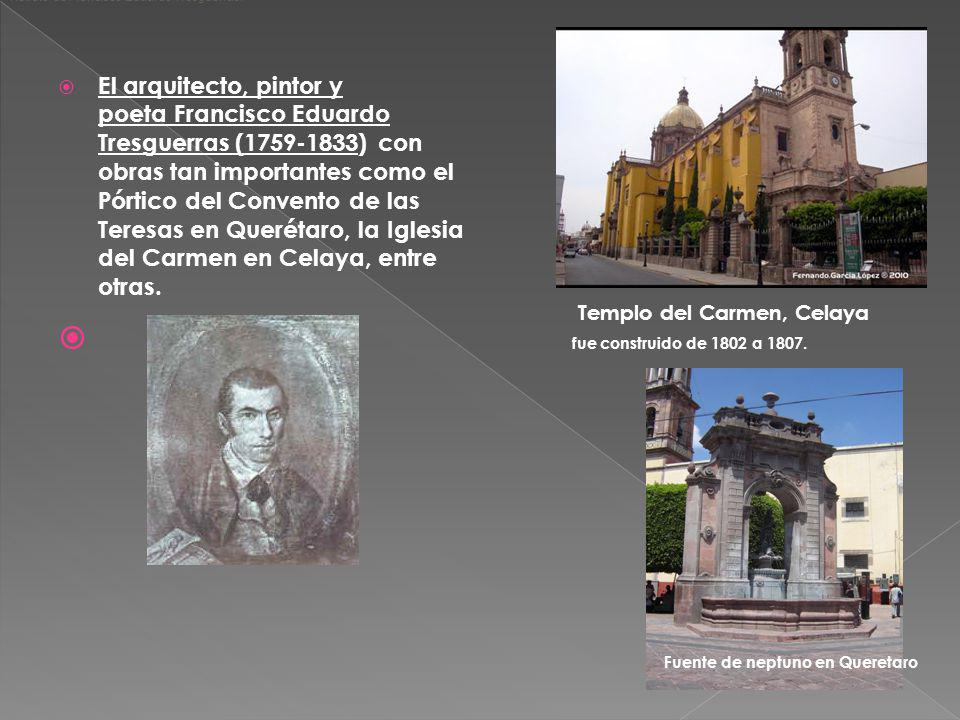 Templo del Carmen, Celaya fue construido de 1802 a 1807.