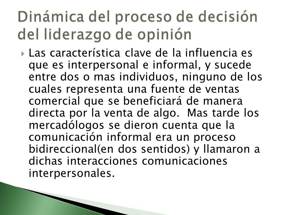 Dinámica del proceso de decisión del liderazgo de opinión