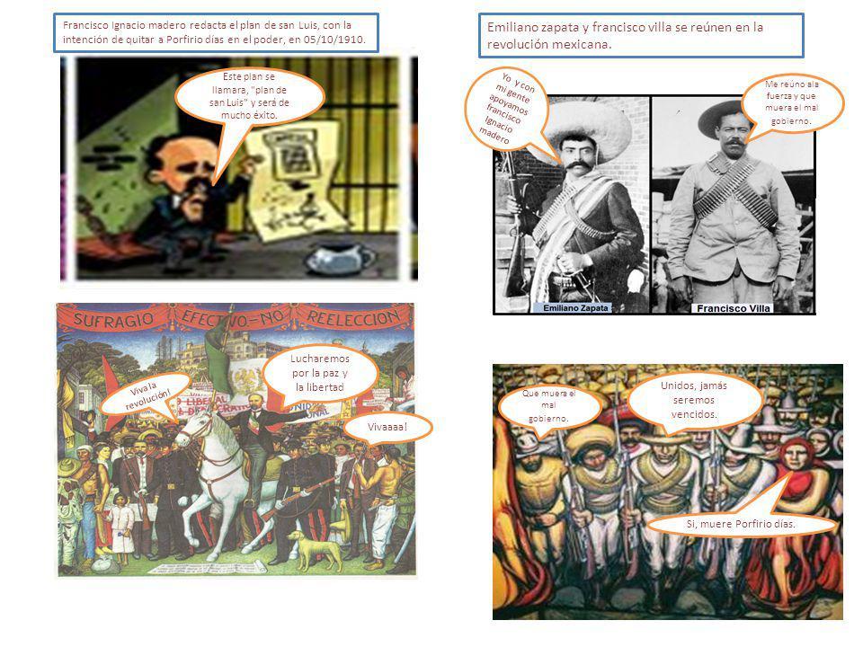 Emiliano zapata y francisco villa se reúnen en la revolución mexicana.