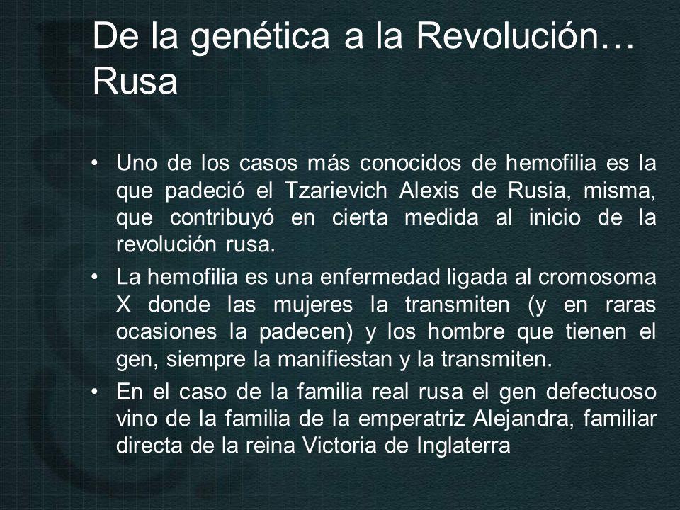 De la genética a la Revolución… Rusa