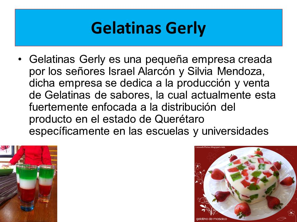 Gelatinas Gerly