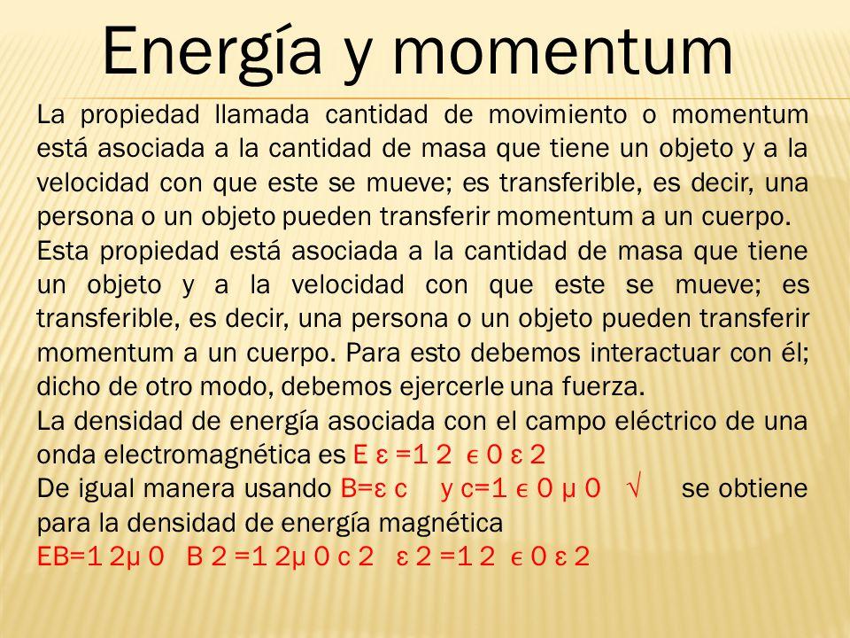 Energía y momentum